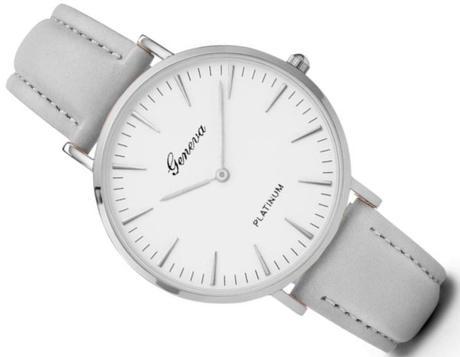 10796a9370e Luxusní dámské hodinky geneva platinum - šede