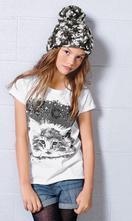 158 tričko s mačičkou a flitrami, next,158