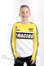 Chlapčenské tričko s dlhým rukávom mm 383 yellow r, 116 - 152