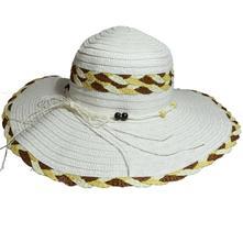 d5d237e88 Dámsky slamený klobúk s mašľou a korálkami, biely, l - xxxl