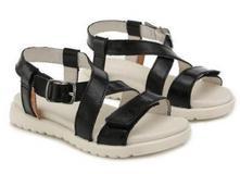 Letné dievčenské sandále d.d.step ac055-1l black, d.d.step,31 / 33 / 34 / 35 / 36