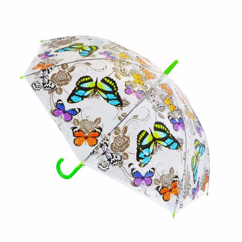 254ca7eec Zobraz celé podmienky. Poloautomatický transparentný dáždnik motýle,
