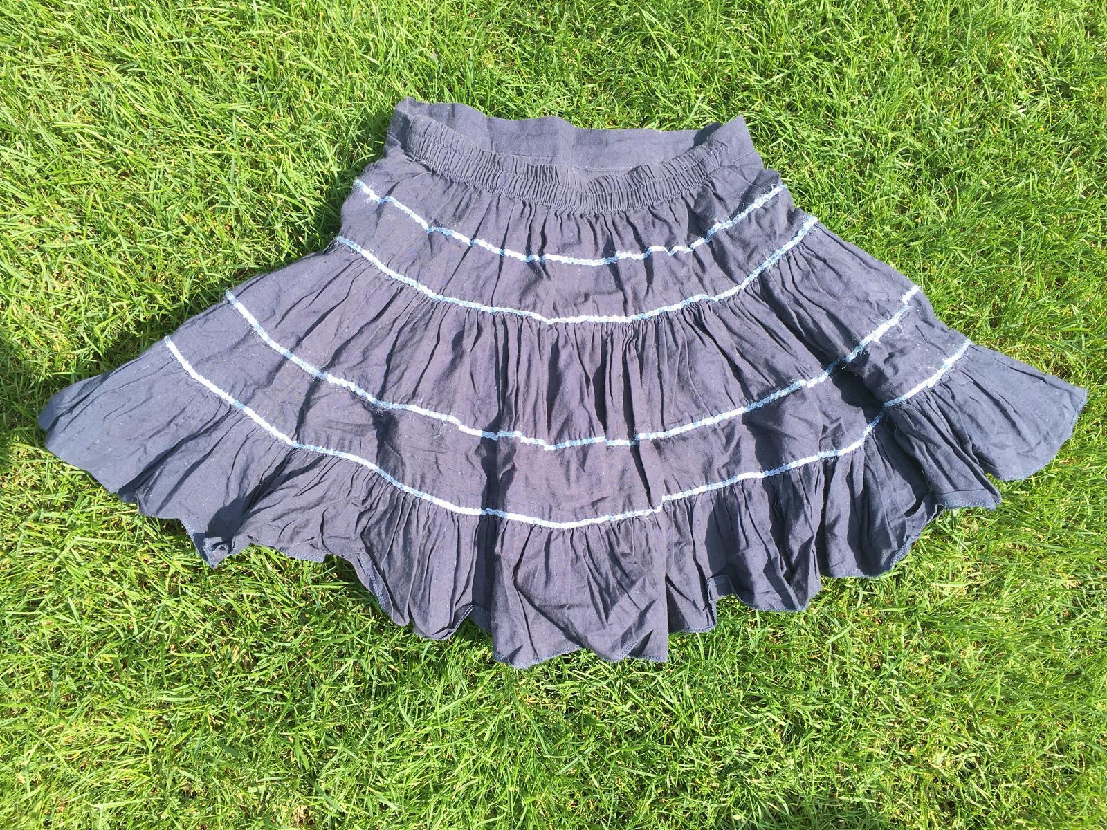 9246e286889e Detská modrá sukňa