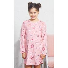 ae1a8c4a5cbd Detská bavlnená nočná košeľa s dlhým rukávom kitty