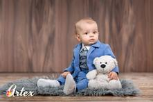 Detský oblek pre chlapca - suit 29 baby blue, 56 - 98