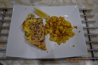 Zapekaná ryba+opekané zemiaky
