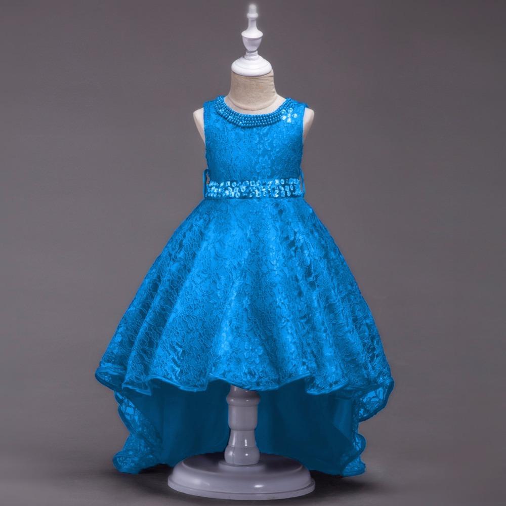 ea6805306ead Krásne detské šaty l493 - sl. modré