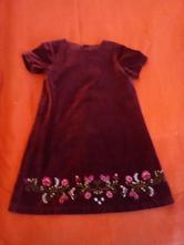 Zamatové šaty, h&m,110
