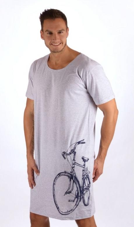 d7089cf9bb7f Pánska nočná košeľa starý bicykel