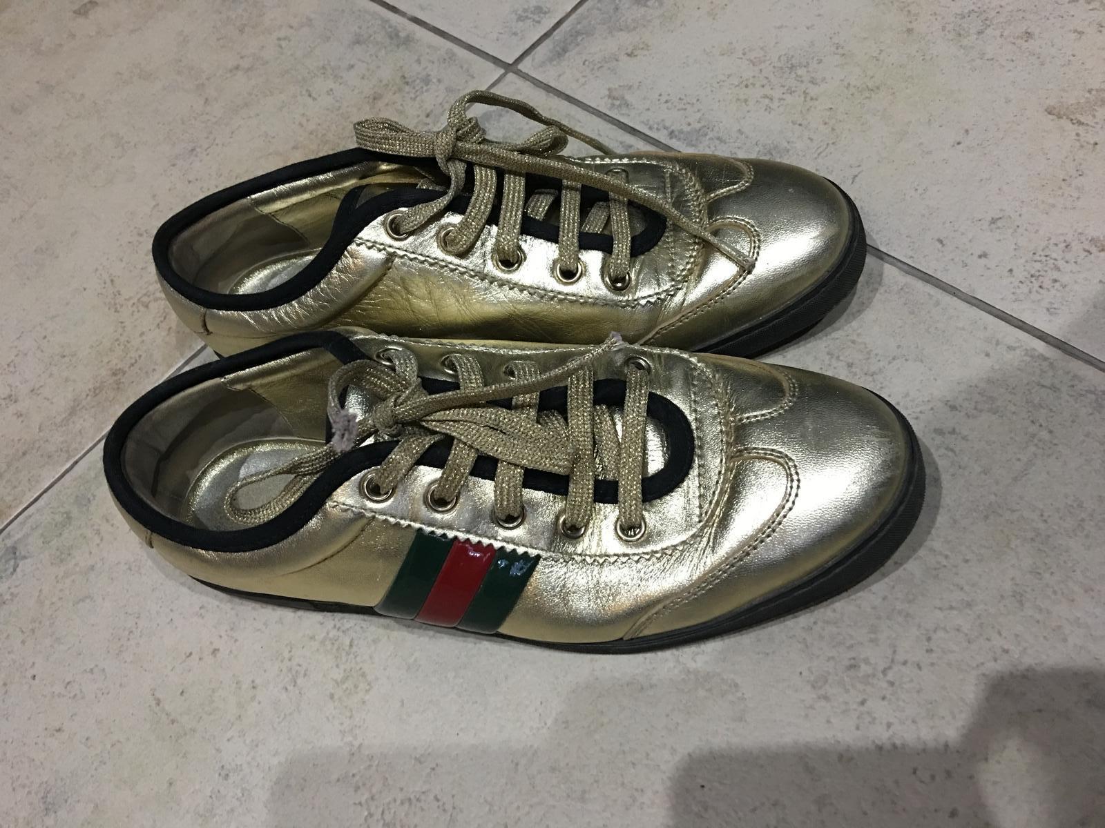 8694f8302 Gucci zlate tenisky original-37, gucci,37 - 165 € od predávajúcej ninat | Detský  bazár | ModryKonik.sk