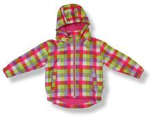 Playshoes detská softshellová bunda karo - ružová , playshoes,80 - 140