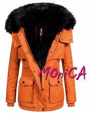 Oranžová zimná parka -valeria, l - xxl