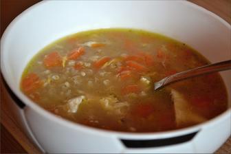 Výborná mrkvovo - vajíčková polievka s pohánkou