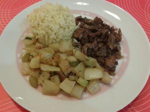 1+ restovaná pečienka s fenyklem a rýží