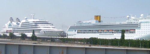 Lode v prístavisku v Benátkach