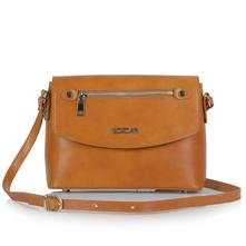 9ac5ab5016 Dámska talianska kožená kabelka cez plece - camel