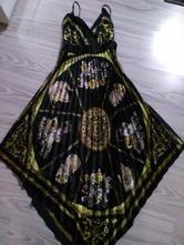 Čierno-zlaté asymetrické šaty, 36