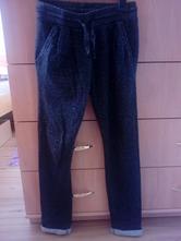 Čierno strieborné nohavice pre dievča 140, 140