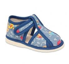 Domáca obuv papuče rak 1000153 chlapčenské, rak,17 - 26