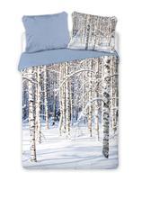 Obliečky les v zime 140 / 200 cm,   2 x 70/80 cm, 140,200