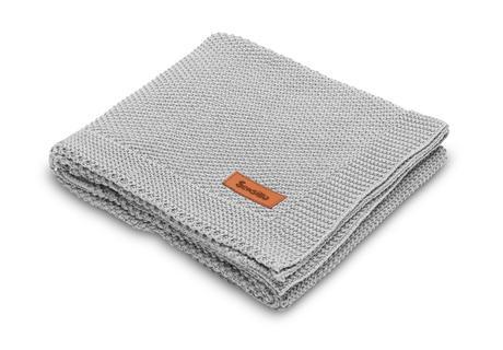 Sensillo bavlnená pletená deka šedá 100x80 cm,