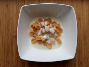 Mrkvove gnocchi a omacka z bielej spargle