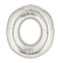 Fóliový balón strieborný-čísla 0,1,2,3,4,5,6,7,8,9,