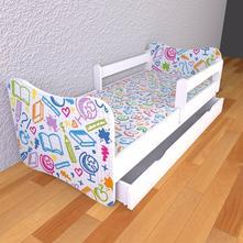 Detská posteľ 160cm x 80cm škola, 80,160