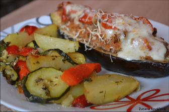 Plnený baklažán s provensálskou zeleninkou :)