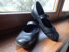 Čierne kožené baleríny, 37