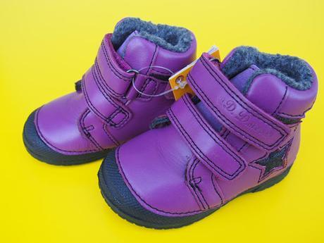54a46bdadd Zimné kožené topánky d.d.step 038 - 252 lavender