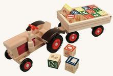 Traktor s vlečkou abc,