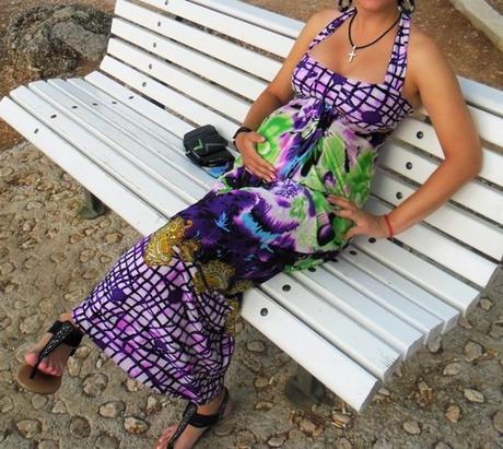 Multicolor šaty-uni veľkosť,