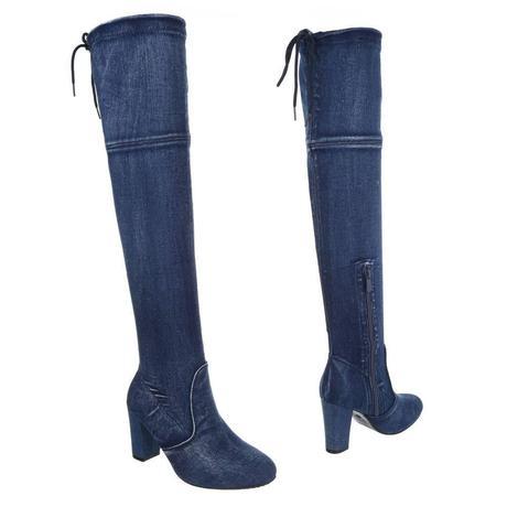 3ef078e134 Sexi riflové vysoké čižmy jeans