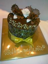sacherova torta s coko, ozdoby s cokohmoty a hmoty, skuska coko ozdob