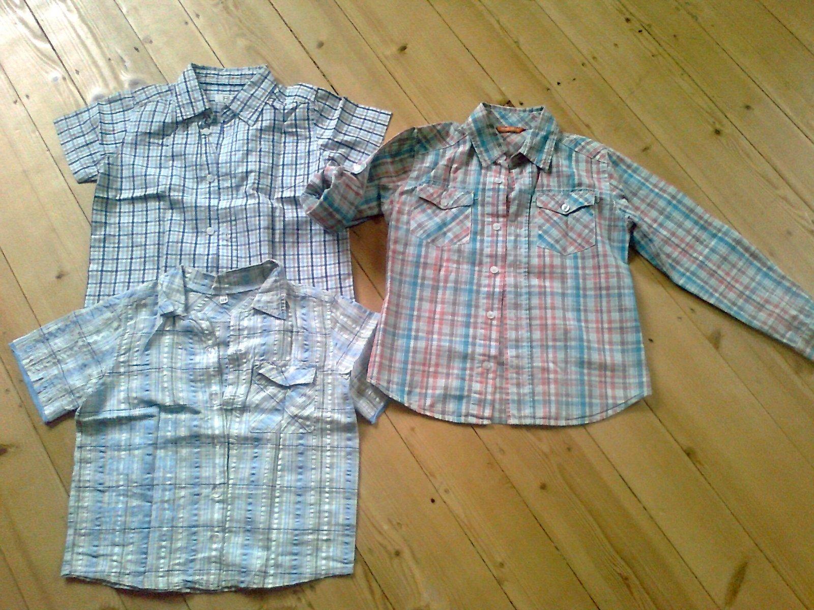 23565e1a6075 Chlapčenské kárované košele krátky rukáv