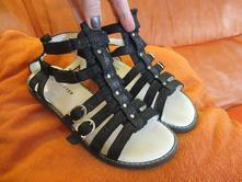 Celokožené sandálky, richter,34