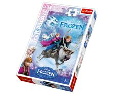 Puzzle 100 ľadové kráľovstvo ,