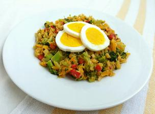 1r.+ Teplý čočokový salát s vajíčkem
