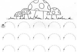 pracovné listy - cvičenia pre predškolákov - vhodné pre precvičovanie návykov ako trpezlivosť, dôslednosť a aj kresbu, písanie, počítanie ...