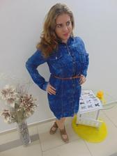 Dámske riflové šaty SKLADOM...v cenách od 18 0bcdfaa46e
