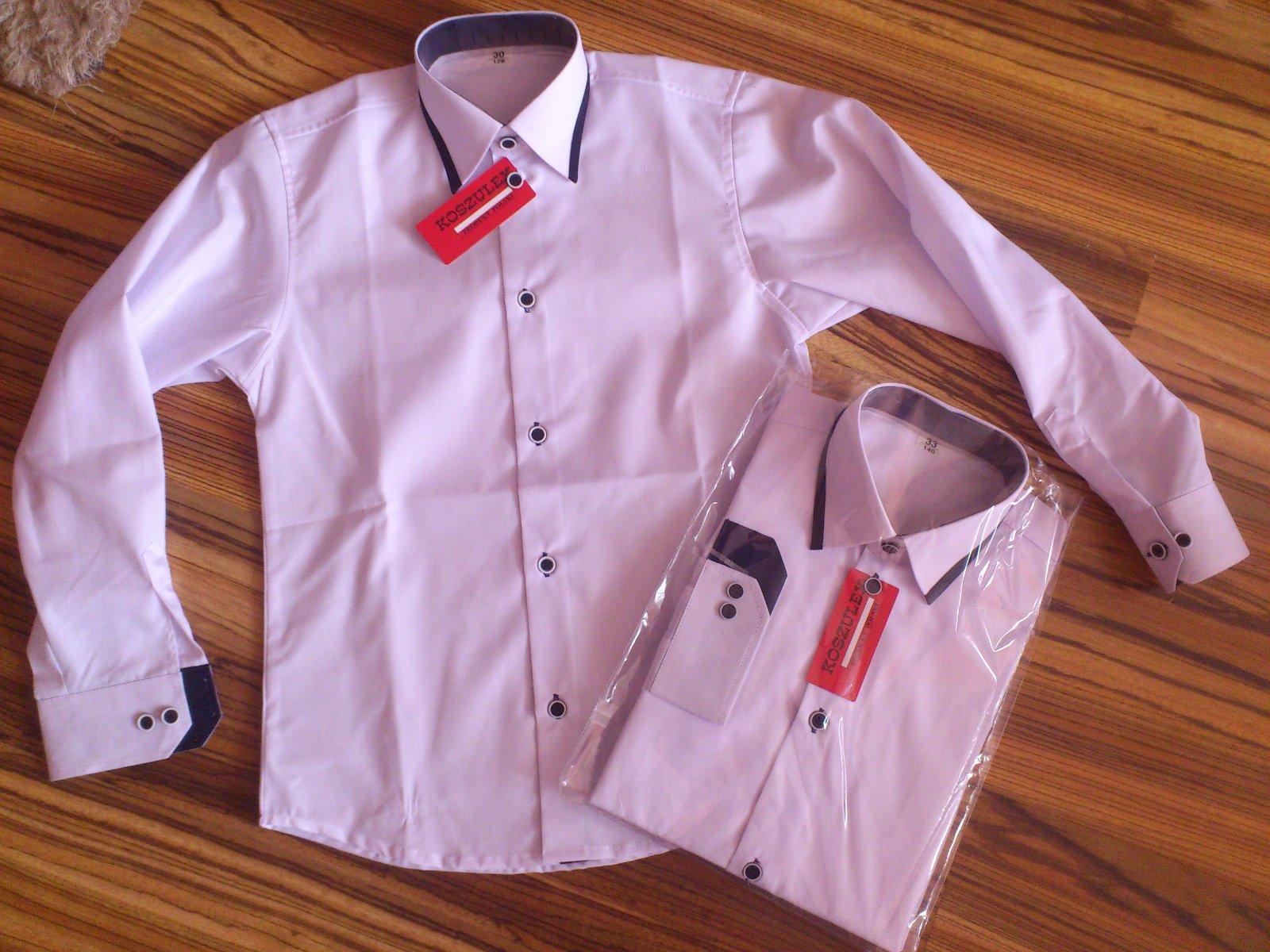e80b50ef9d34 Frajerská košeľa biela s čiernym lemom 140
