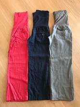Tehotenské plátené nohavice, l