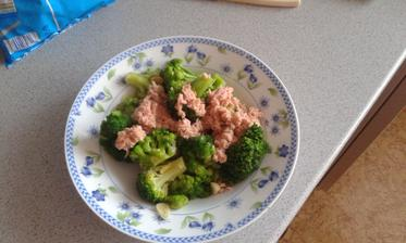 20.den - vecera. Brokolica na cesnaku s tuniakom