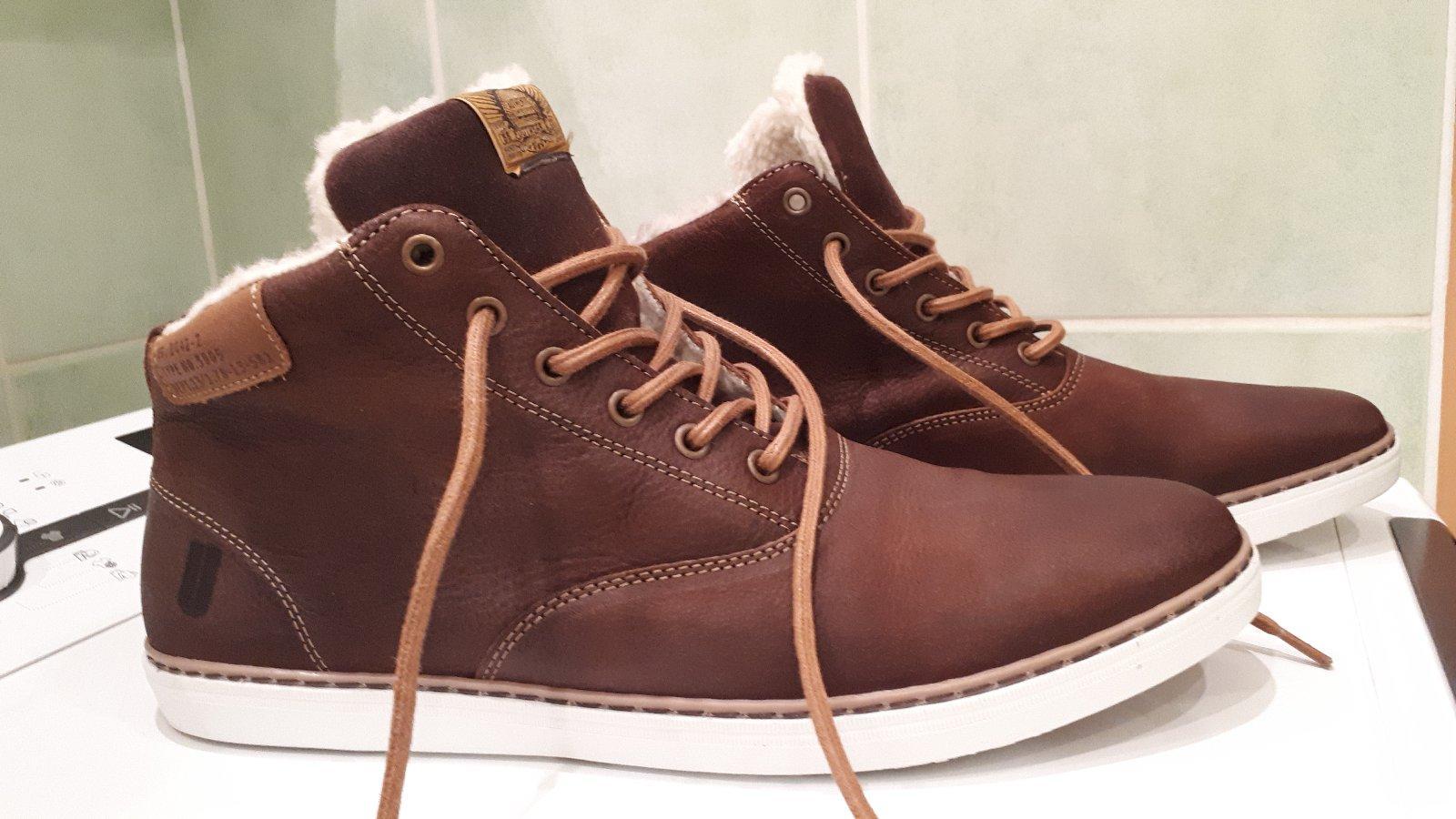 fe58a9c2e9 Pánske zimné kožené topánky