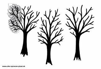 Stromy - Dokresli stromom korunu krúživými pohybmi podľa predlohy.
