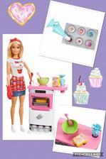 Barbie set Varenie a pecenie 💖 Tento set obsahuje babiku barbie, ruru na pecenie so zvukovou signalizaciou zapnutia a mnozstvo doplnkov potrebnych pri peceni 🍰🍰