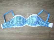 Bielo-modrá bardotka 75d, bonprix,75d
