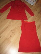 84ba3e99505f Letný kostým - šaty a sako na výšku 152 - 158