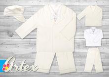 Oblek pre chlapca - suit 01 cream, 56 - 86